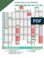 Calendário Escolar 2018-2019