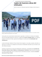 13-08-2018 Supervisa Gobernador de Guerrero Obras Del Distribuidor Chichihualco.