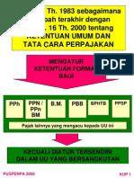 KUP No 16 Tahun 2000