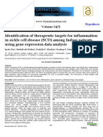Identification of therapeutic targets for inflammation in sickle cell disease (SCD) among Indian patients using gene expression data analysis.