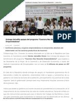 14-08-2018 Entrega Astudillo Apoyos Del Programa, Guerrero Nos Necesita Emprendedores.