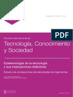 Epistemologia de La Tecnologia y Sus Imp