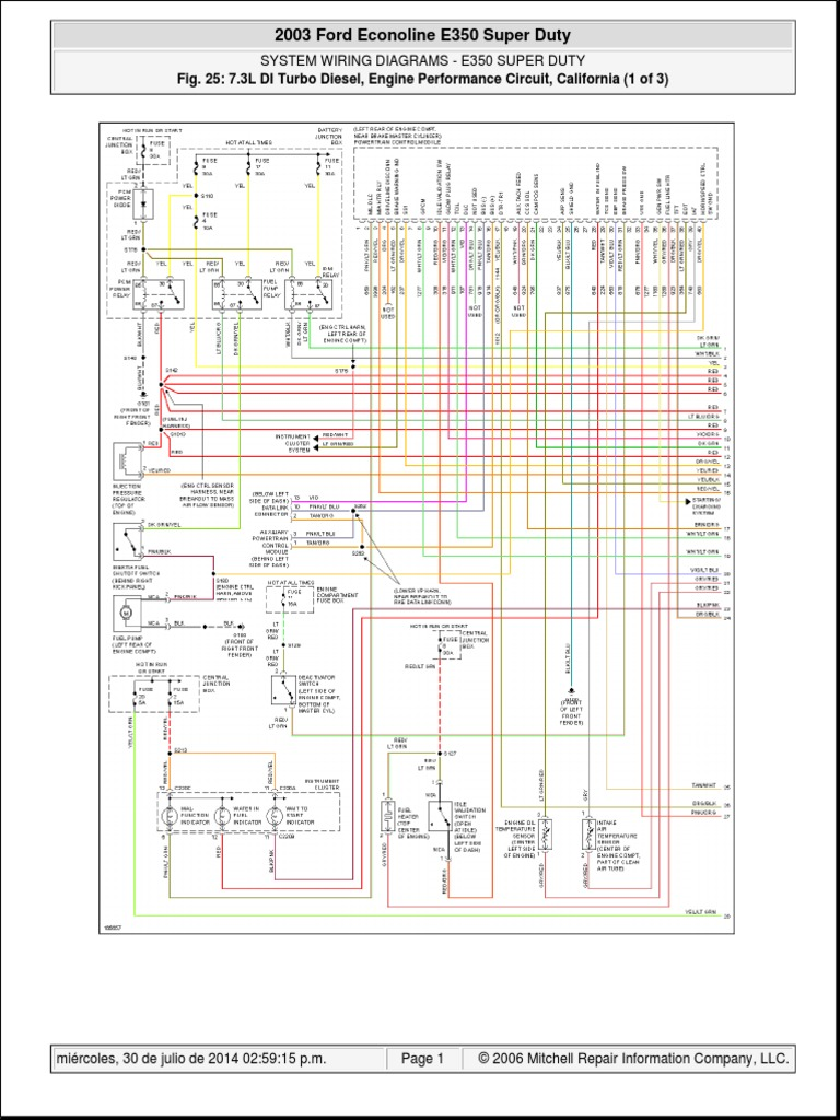 Diagrama F350 Diesel 73 2013 Ford E250 Wiring Diagram