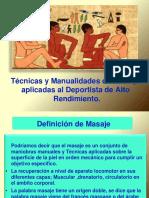 Introducción a técnicas y manualidades aplicadas al masaje deportivo-
