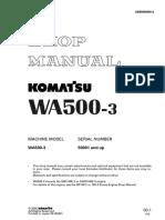 09 WA500-3 Shop Manual