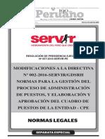Directiva Servir CPE