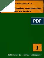 FERNANDEZ, C. - Los filosofos medievales. Seleccion de textos I - BAC, 1979.pdf