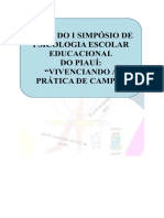 Anais Do i Simpósio de Psicologia Escolar Educacional Do Piauí
