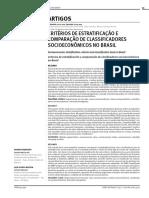 CRITÉRIOS DE ESTRATIFICAÇÃO E COMPARAÇÃO DE CLASSIFICADORES SOCIOECONÔMICOS NO BRASIL.pdf