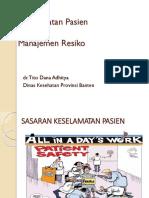 Keselamatan Pasien Dan Manajemen Resiko