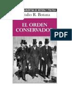Botana Natalio R - El Orden Conservador