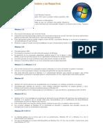 Las Versiones de Windows y Sus Respectivas Características