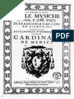 Francesca Caccini, Il Primo Libro