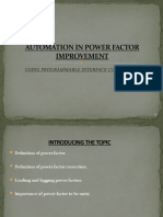 Automation in Power Factor Improvement
