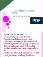 Manajemen Analisa Data