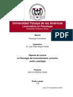 REPORTE DE LECTURA LA PSICOLOGÍA DEL ENCARCELAMIENTO- PRIVACIÓN, PODER Y PATOLOGÍA.docx