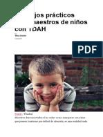Consejos Prácticos Para Maestros de Niños Con TDAH