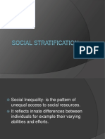 Socio Social Stratification