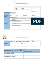 formato para hacer plan de aula