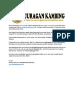 Kambing Akikah Pamulang - 08118204142