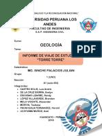 Reporte Monográfico - Torre Torre (GEOLOGÍA)