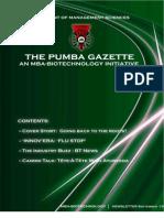 The PUMBA Gazette - September '10 Edition