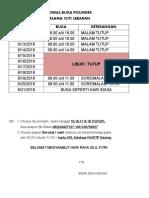 Jadwal Buka Polindes Lebaran 2018