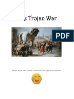 the trojan war literary task  1