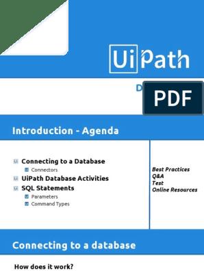 Uipath Database