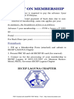 Policy on IECEP Membership