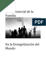 El Rol Esencial de La Familia. en La Evangelización Del Mundo