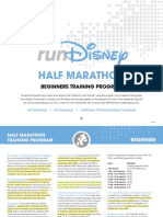 RunDisney Half Beginner Training Plan