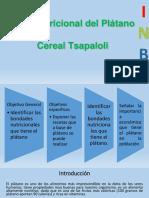 Presentacion de Valor Nutricional Del Plátano