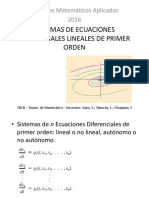 Sistemas de EDO, 1era Parte