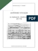 Sinfonia Da Farnace RV 711 Di Vivaldi Spartito