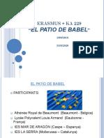 Presentació  ERASMUS-setembre