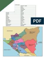 Departamentos y Cabeceras de Nicaragua