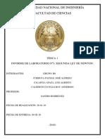 FISICA 1 - Informe 3 - Segunda Ley de Newton Uni 2016-1