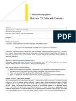 Info Sheet Resume Checklist