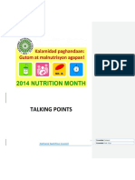 Nutrition Month Talking Points