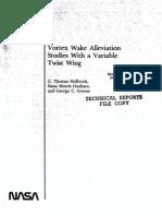 Vortex Wake Alleviation Prediction