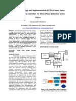 Technical Paper Presentation of FPGA Based SVM Controller