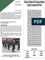 Las Fuerzas Armadas y Policiales y La Seguridad Nacional y Ciudadana