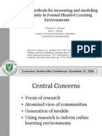 Blended Methods for Measuring and Modeling Community in Formal Online Learning Environments
