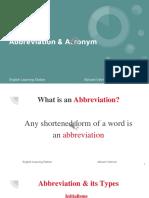 Abbreviation and Acronym