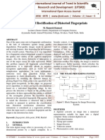 Detection and Rectification of Distorted Fingerprints