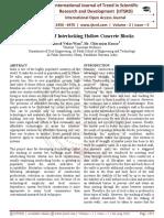 Behaviour of Interlocking Hollow Concrete Blocks