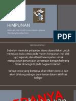 Pertemuan 1 Himpunan SMP K 5 Bandar Lampung