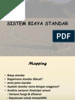 Sistem Biaya Standar Akuntansi Biaya