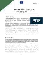 Chapitre 1 - Introduction à l'Analyse Numérique